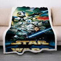 Movie Star Wars 3D Digital Printed Throw Blanket Sofa Fleece XMAS Blanket Gift