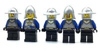 LEGO LOT OF 5 CASTLE MINIFIGURES KNIGHT CROWN KINGDOMS SOLDIERS