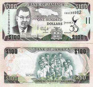 Jamaica 2012 - 100 dollars - Pick 90 UNC Commemorative