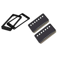 Black Brass Humbucker Pickup Cover w/ Ring for 7 String Guitar Parts