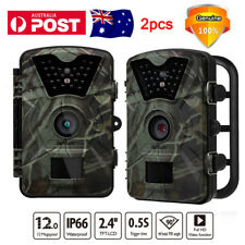 2x Trail Camera Wireless Farm Security Cam Waterproof Night Vision No Spy Hidden