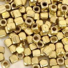 Lot 50 Perle Cube 3mm Doré Acrylique perle intercalaire creation bijoux