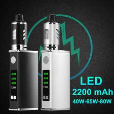 2200mAh LED 3 GEAR 80W Electronic Tube High Vape E Pen Cigarettes Vapor Kit