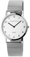 Leonardo Verrelli Herrenuhr Weiß Analog Meshband Armbanduhr Quarz X2900129002