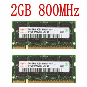4GB 4GO (2x 2Go) 1GO PC2-6400S DDR2 800MHz 200Pin mémoire SO-DIMM pour Hynix FR