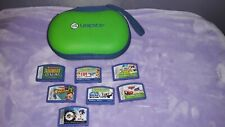 Leapfrog Leapster Case & 7 Games Cars Sonic Star Wars Pet Pals I Spy Math Genius