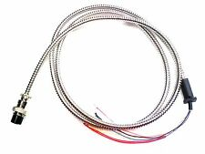 Flexible Metal CB Microphone Cord for Cobra or Uniden - 4 Pin Plug - 5 Wires