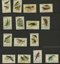 NORFOLK ISLAND 1970-71 BIRDS SET 15