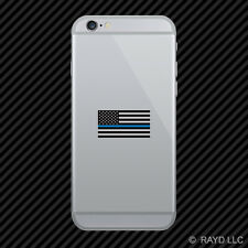 Thin Blue Line Subdued American Flag Cell Phone Sticker Mobile Law Police USA US