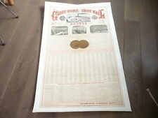 RARE AFFICHE POSTER 1876 BOSTON USA ETATS UNIS HORSE CHEVAUX GLOBE SHOE lithogra