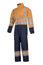 Sioen 5634 Overall 2XL Hi-Viz Orange/Navy Flame Retardent, Antistatic rain suit