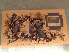 US Military Historic Stamp Collection 10 cent stamp THE BATTLES OF LEXINGTON, CO