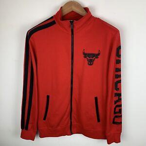 Mens Red Adidas Chicago Bulls Full Zip Sweatshirt Size Medium