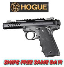 Hogue Ruger 22/45 MKIV: Black Rubber Grip with Finger Grooves # 79080