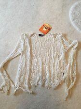 Nomads Cream Crochet Cardigan BNWT