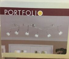 PORTFOLIO 6-Head Decorative Track Light, Nickel Finish #0262650
