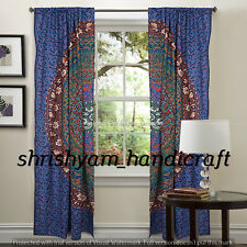 Indian Multi Printed Mandala Tapestry Curtains Bohemian Window Home Wall Decor