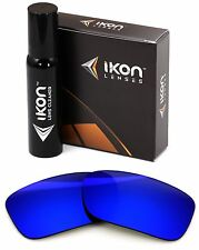Polarized IKON Iridium Replacement Lenses For Oakley Crankcase Deep Blue Mirror