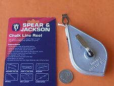 TOOLCRAFT CHALK LINE 30M  100FT ROBUST METAL CASE Distributed by SPEAR & JACKSON