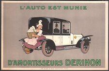 Automobile - Amortisseurs Derihon. Cachet Champoiseau. Paris vers 1910