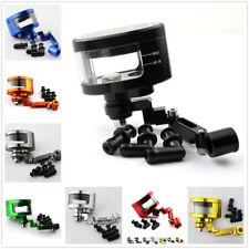 CNC Black Motorcycle Brake Fluid Oil Reservoir Cup Tank Support Bracket