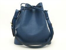 Louis Vuitton Authentic Epi Leather Blue Petit Noe Shoulder Tote Bag Auth LV