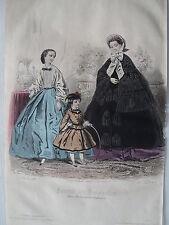 1i32 Gravure de mode 1861 journal des demoiselles