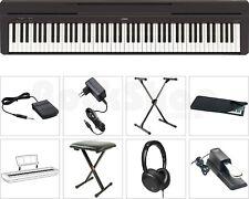 Yamaha P 45 B Digital E-Piano Klavier SUPER SET mit X-Stativ + Sitz Bank Hocker
