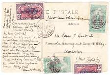 Middle Congo Sc#29(x2)#33(x2)-BANGUI OUBANGUI CHARI 7/MARS/25-postcard view-t