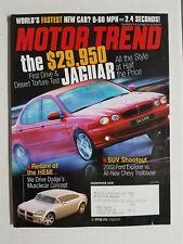 Motor Trend June 2001 - Dodge Hemi - BMW Hartge H50 - Lexus GS 420 - Porsche GT@