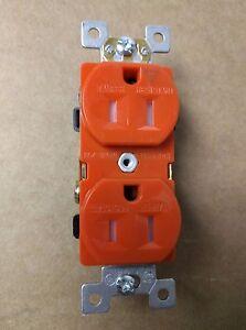 Isolated Ground Orange Receptacle Industrial Grade 15A 125V Tamper Resistant TR