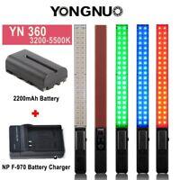 YONGNUO YN360 Pro Handheld LED Video Light 3200-5500K RGB & F550 Battery 7.4V