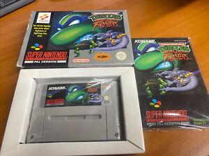 Turtles Tournament Fighters TMNT Snes Super Nintendo Boxed PAL CIB