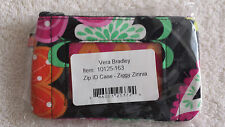 NEW WITH TAGS VERA BRADLEY ZIGGY ZINNIA ZIP I.D. CASE FREE SHIPPING !