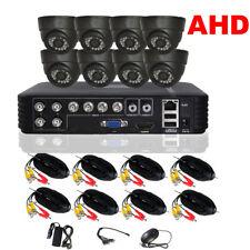 CCTV 8CH Security AHD Dome Camera System 720P Surveillance Day Night IR Kit P2P