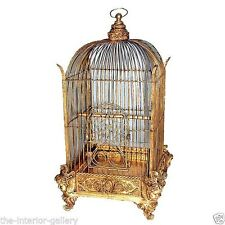 Conservatory Bird Cage Gold - Large Bird Cage - Victorian Bird Cage - Gold