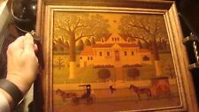 Charles Wysocki Vtg Wood Glass Framed Bed Serving Tray Ice Cream and Hopscotch