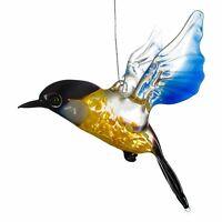 """Glass Bird Figurine / Handmade Hand Blown Art Glass Bird Animal 4"""""""