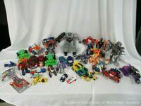 HUGE Transformers Figure Lot 30+ Vintage / New / Mini Cars / ETC (AWS)