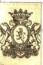 EX-LIBRIS de M. de POLASTRON. Languedoc. Gravé par Tubert.