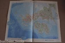 """BRITISH ISLES Map, 1955, 19"""" x 24"""", UK"""