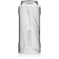 Brumate Hopsulator Slim Can Cooler Tumbler 12 oz Drink Holder Carrara Marble