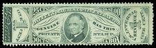 Scott RS74b 1871 1c Dalley's Pain Medicine Revenue on Silk Paper Fine Cat $12