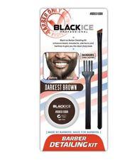 Black Ice Barber Detailing Kit Enhance Beard Mustache Sharp Hairline Brush Color