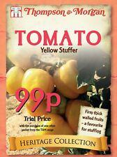 Thompson & Morgan - Heritage Tomato Yellow Stuffer - 25 Seed - Only 99p