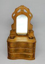 Vintage Wooden Dresser With Mirror Dollhouse Miniature 1:12
