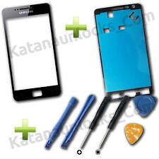 Vitre écran Samsung Galaxy S2 SII i9100 Noir avec adhésif et Outils
