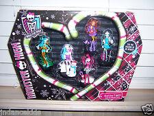 NIB Monster High HOWLIDAY Figures Set Of 5 Christmas Holiday Figures Giftset
