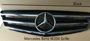 For Mercedes-Benz C Class W204 C250 C300 C350 Front Grills Black Grille 2008-14
