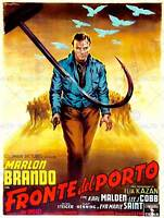ON THE WATERFRONT CRIME DRAMA BRANDO ITALIAN RELEASE USA ART POSTER PRINT CC6432
